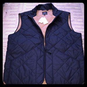 J.Crew quilted men's vest NWT